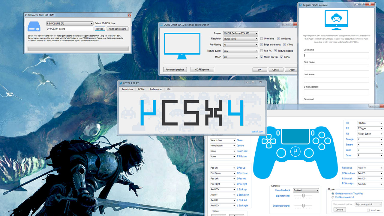 ps4 emulator for pc free download no survey