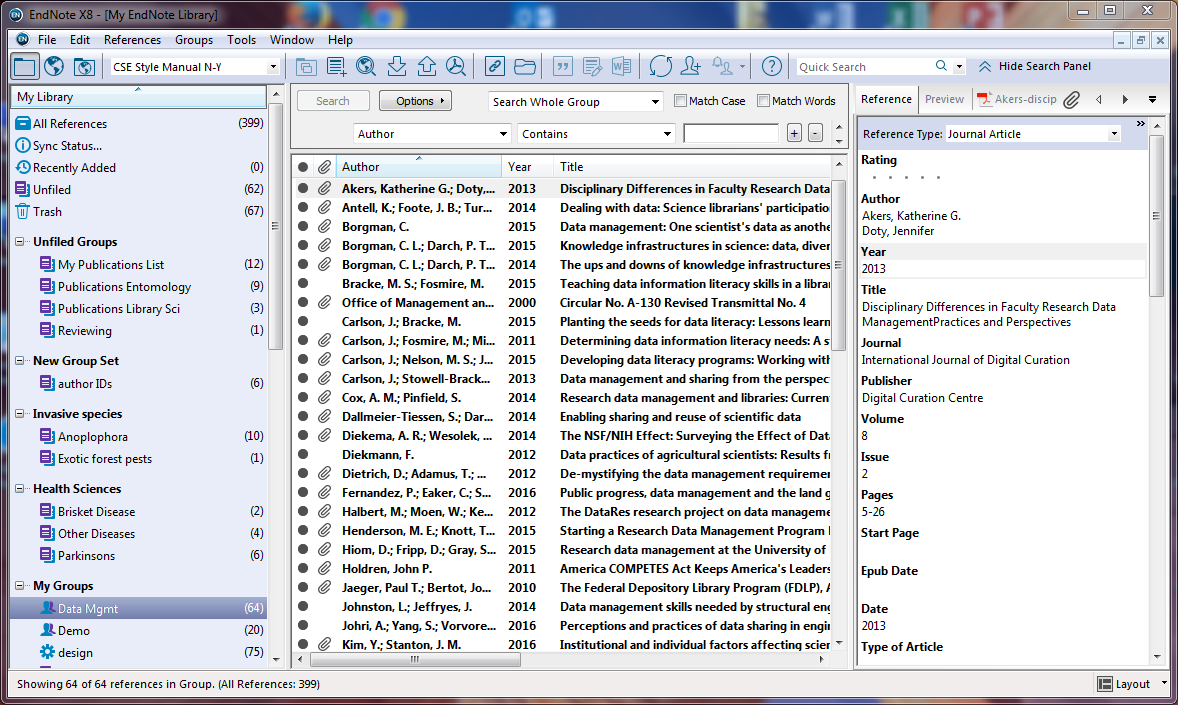 EndNote X8.2 Product key