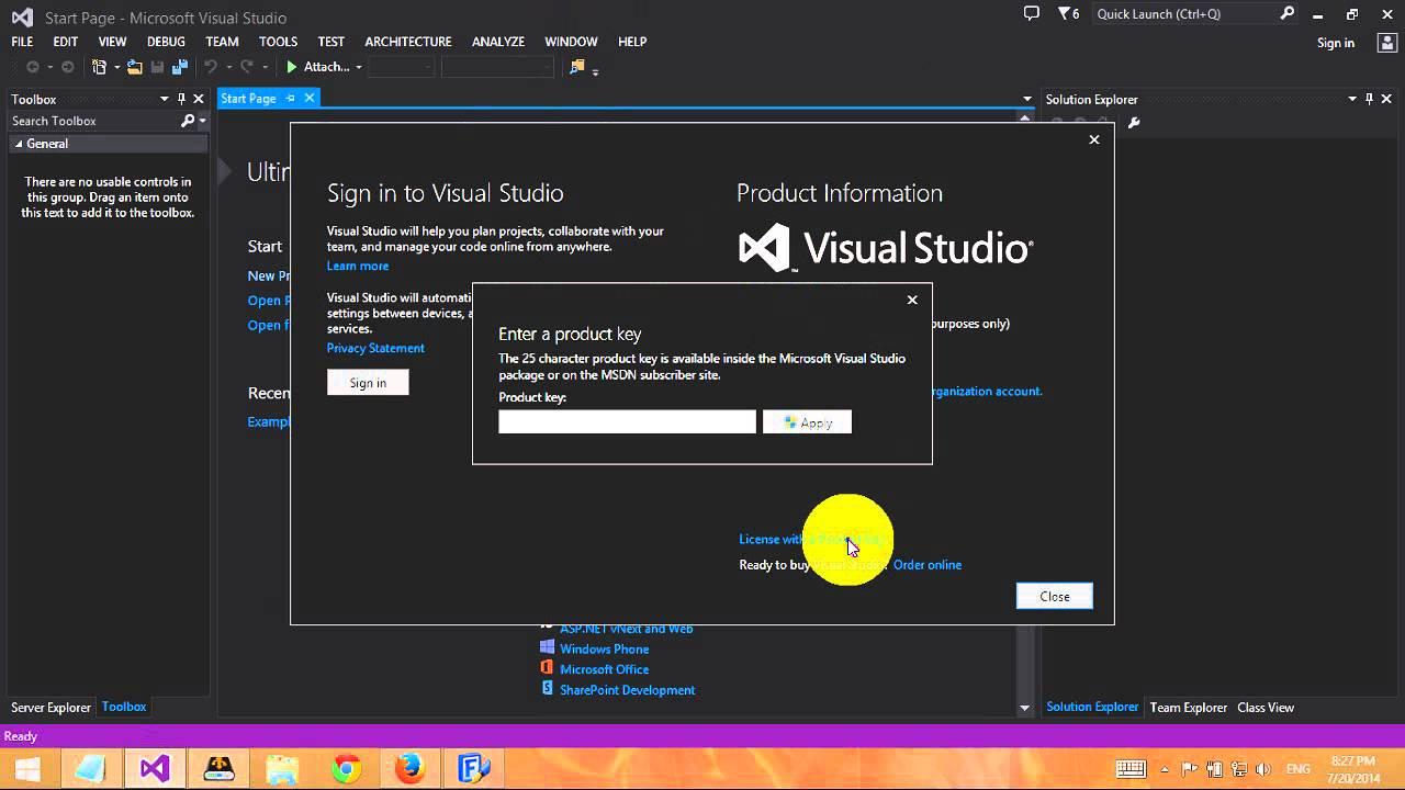 Visual Studio Product Key